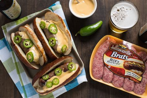 brats n beer recipe beer brats with beer queso foxes love lemons