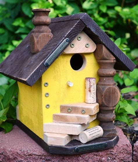 Handcrafted Birdhouses - birdhouse handmade country wine cork decorative bird house