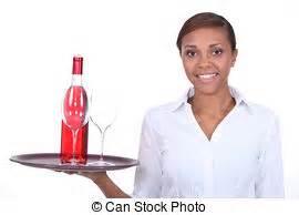 con cameriere cameriere vassoio protettivo presa a terra cameriere