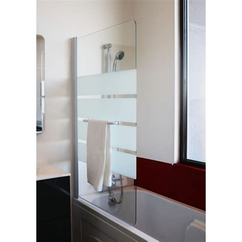 paroi baignoire pare baignoire anat en verre tremp 233 h 140 x l 85 x p 5 cm