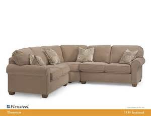 flexsteel leather 3535 thornton sectional