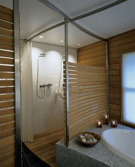 teak tiles bathroom interior design inspiration photos by hutker architects
