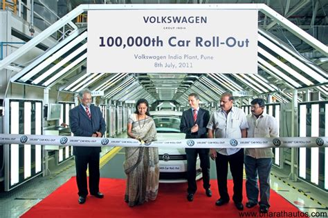volkswagen chakan vw india rolls out 100 000th car from chakan plant