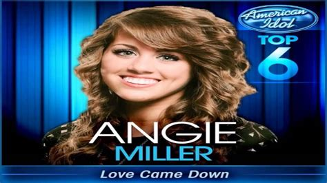 angie miller came top 6 american idol 2013 angie miller came studio version american