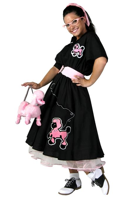 50 theme costumes hairdos plus size deluxe poodle skirt costume