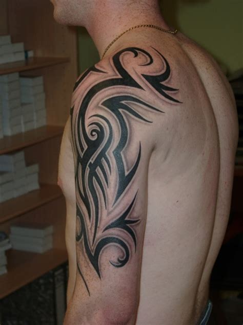 Tribal Quarter Sleeve Tattoo Designs | 23 stunning tribal half sleeve tattoos only tribal