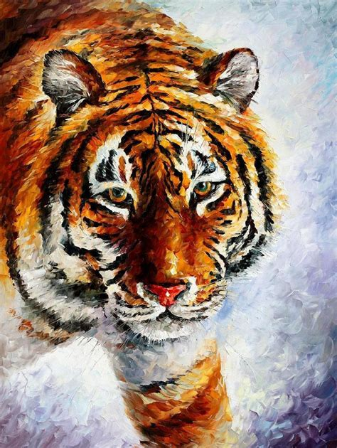 Painting Tiger tiger wall painting on canvas by leonid afremov