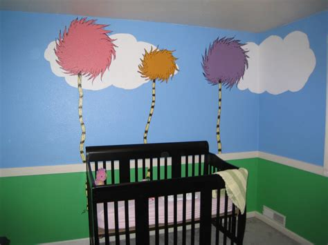 the reno sparks diy dr seuss lorax nursery mural