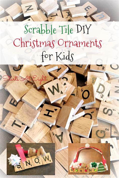 create scrabble words scrabble tile diy ornaments for startsateight