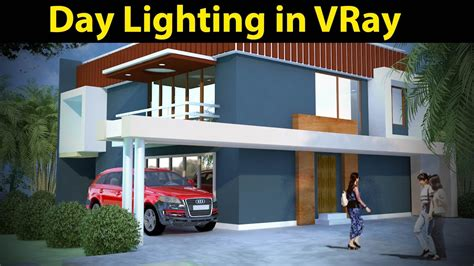 home lighting design tutorial 3d max tutorial day light rendering in vray part 01 youtube