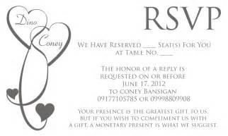how to address rsvp wedding cards invitation wordings rsvp