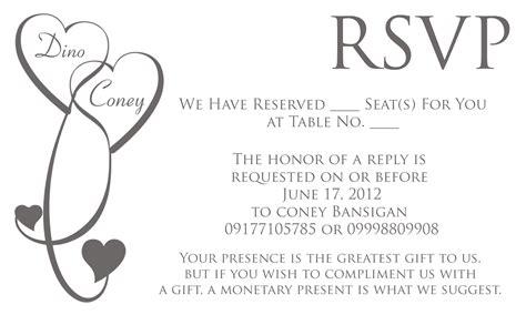 Rsvp Wedding Invitation Wording