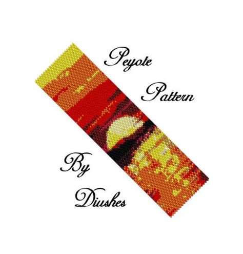 delica bead patterns peyote beading pattern sunset seed bead pattern delica