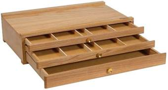 mont marte pastel box 3 drawer wood to