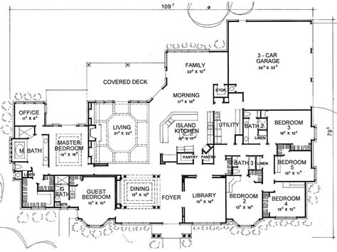 Duggars House Floor Plan The Valdosta 3752 6 Bedrooms And 4 Baths The House Designers