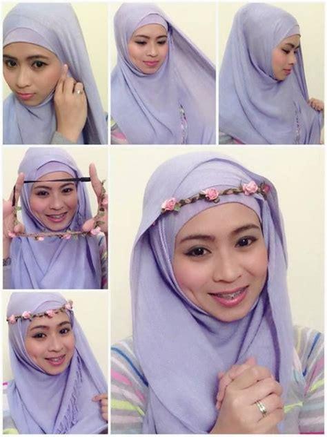 tutorial jilbab headband 8 kreasi jilbab segi empat terbaru simple dan fashionable