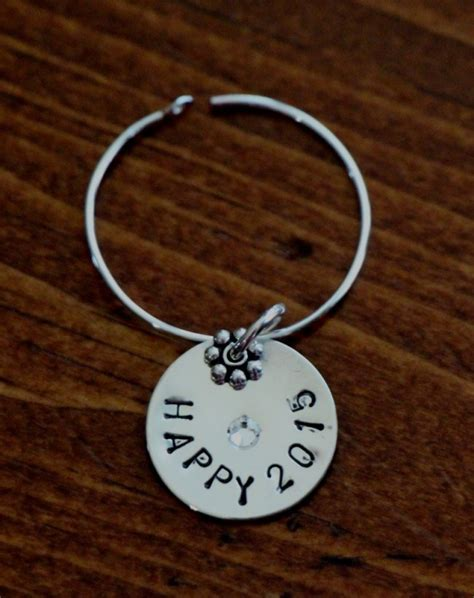 personalized wine charm sterling silver kandsimpressions