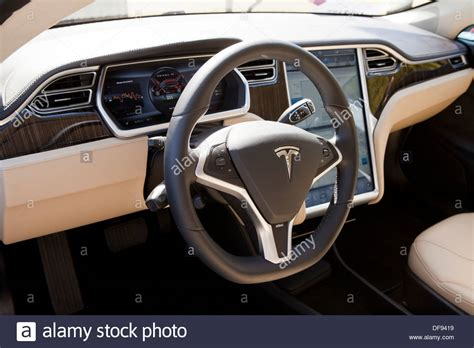 tesla electric car interior www pixshark images
