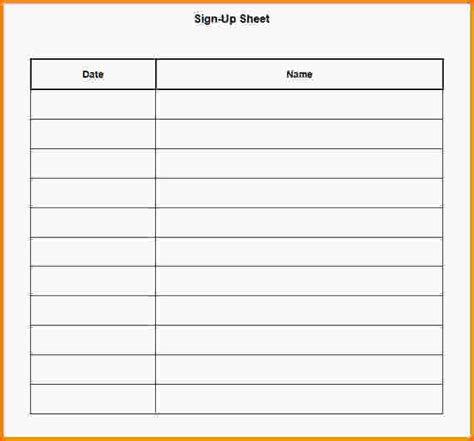doc 463620 printable sign up sheet template sign up