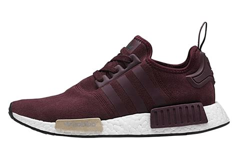 Nmd R1 Primeknit New Silhoutte Black Burgundy 100 Original Adidas adidas nmd suede pack burgundy the sole supplier