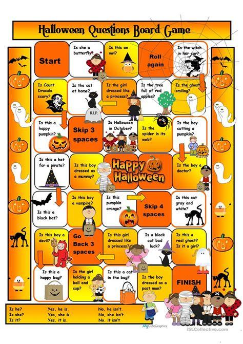 printable halloween board games halloween boardgame worksheet free esl printable