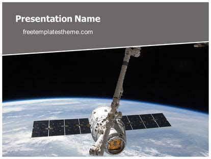 Spacex Powerpoint Template Free Nasa Satellite Powerpoint Template Freetemplatestheme Com