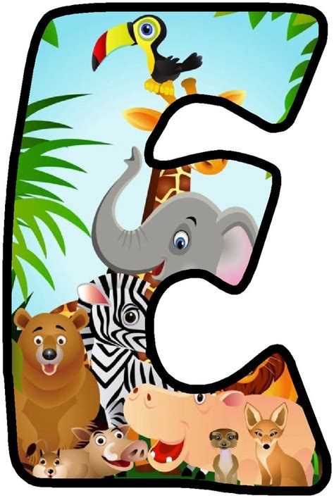 printable jungle alphabet 2925 best images about animados on pinterest smileys