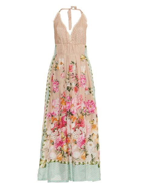 New Produk 43511 Dress Butterfly emam 243 floral and butterfly print silk maxi dress lyst