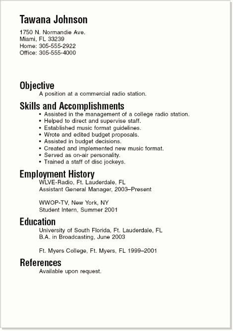 examples of resumes for high school students resume badak