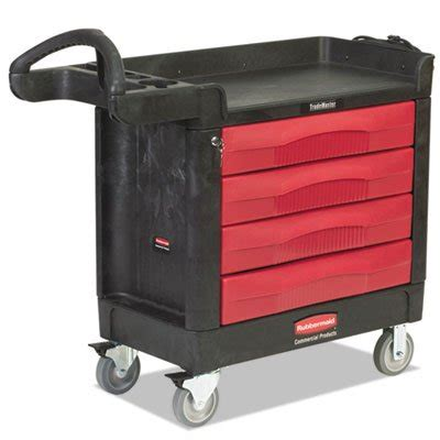 rubbermaid trademaster cart with cabinet rubbermaid trademaster cart 500 lb cap one shelf 18 3