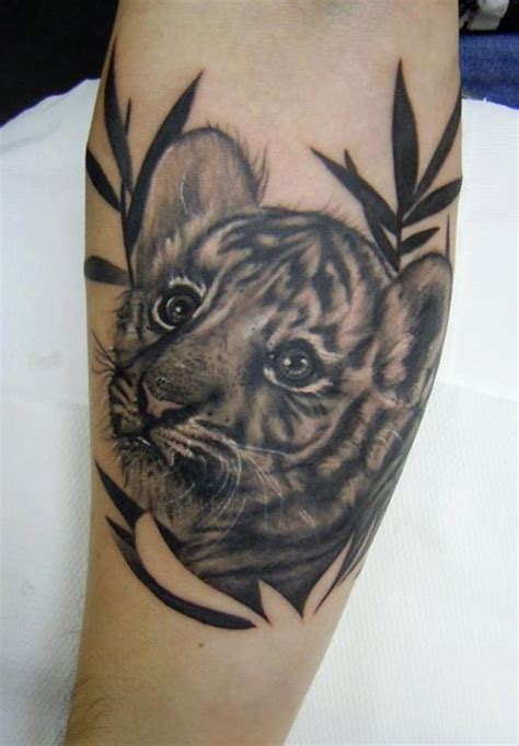 baby tiger tattoo designs 66 black and grey tiger tattoos collection