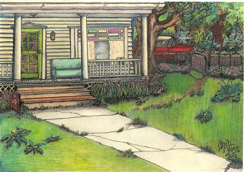 house porch drawing front porch homestead by april mains