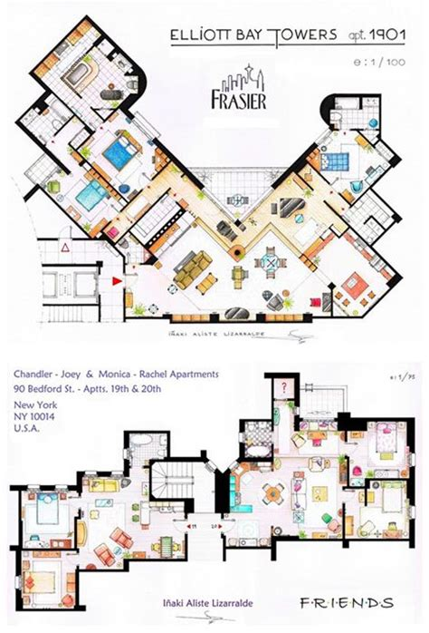friends floor plan frazier and friends apartment layouts no place like home
