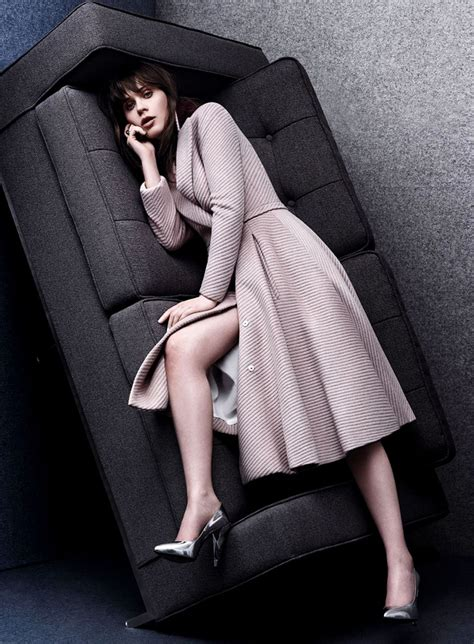 As Seen In Legs Are Instyle by Zooey Deschanel Photoshoot For Instyle Magazine August