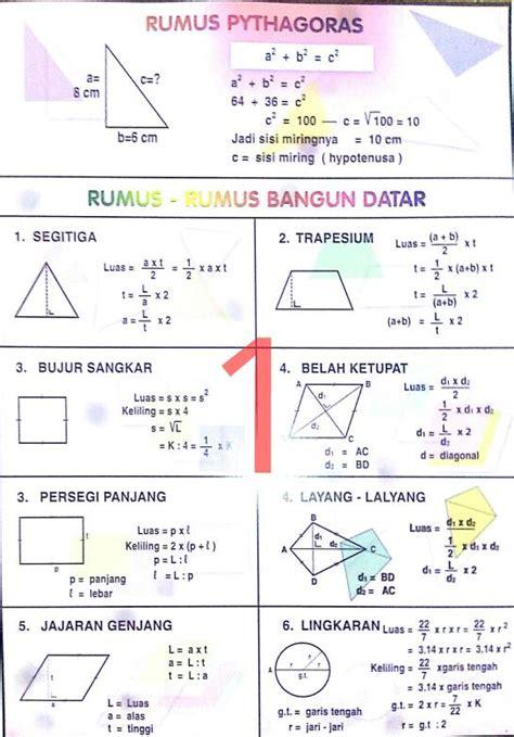 Poster Pintar Matematika Sd jual poster rumus matematika alvastar