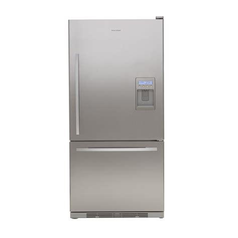 cabinet depth refrigerator lowes shop fisher paykel 17 5 cu ft bottom freezer counter