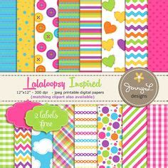 home confetti free printable lalaloopsy party invitations rainbow pony digital paper patterns background girly