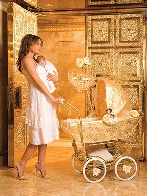 trump gold apartment exclusive baby trump at home golden boy people com