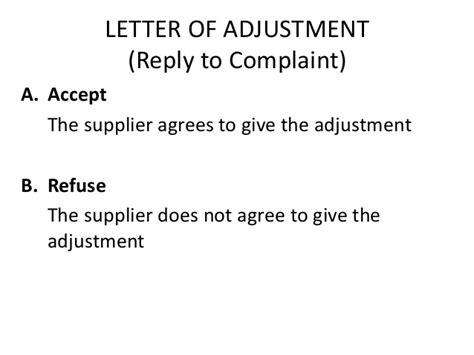 Customer Complaint Letter For Damaged Goods Letter Of Complaint And Adjustment