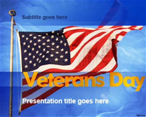 Free Patriotic Powerpoint Templates Veteran Powerpoint Template