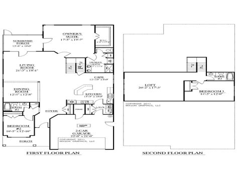 upstairs floor plans 2 story small house plans 2 story house plans with
