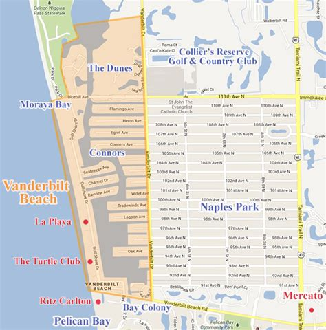 map of naples florida beaches vanderbilt real estate condos and homes for sale in vanderbilt