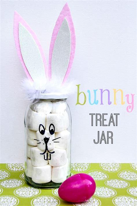 treat crafts easter crafts diy bunny treat jar