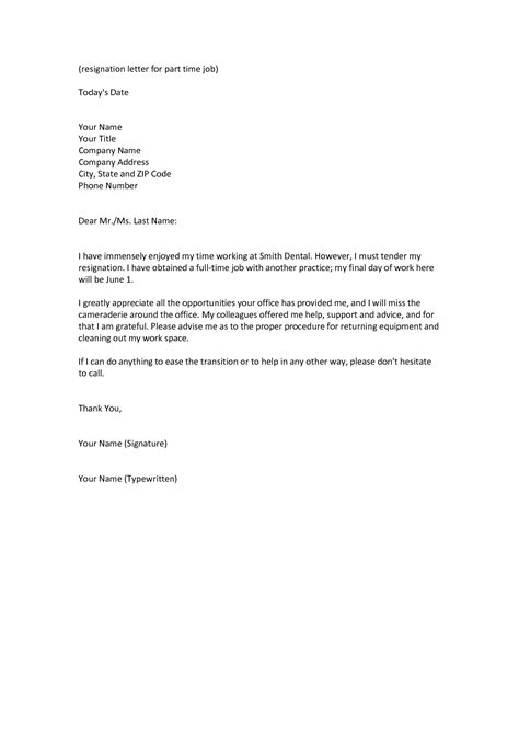 Letter For Your resignation letter reason to resigning from a letter