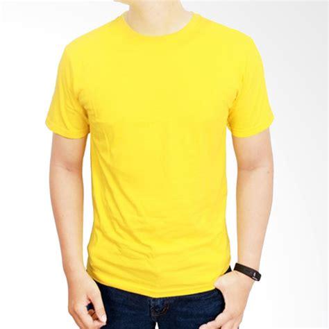 Kaos Kuning Polos jual gudang fashion pol 05 kaos polos o neck pendek cotton
