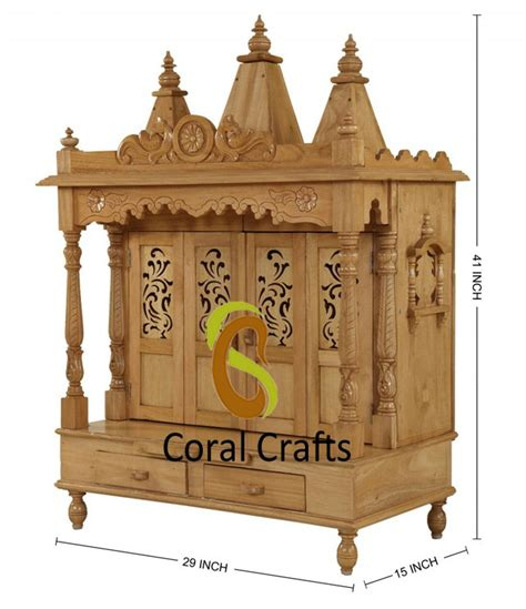buy beautiful sevan wood temple for home from india