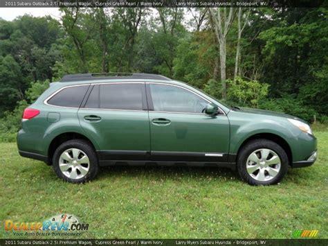 outback subaru green cypress green pearl 2011 subaru outback 2 5i premium wagon