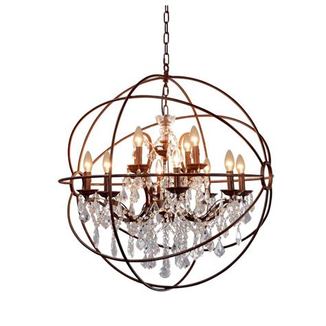 12 best collection of globe chandelier