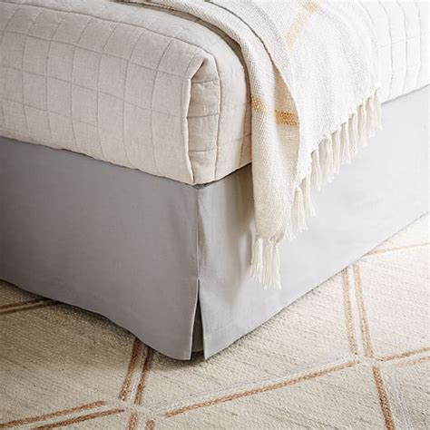 west elm bed skirt linen cotton bed skirt west elm