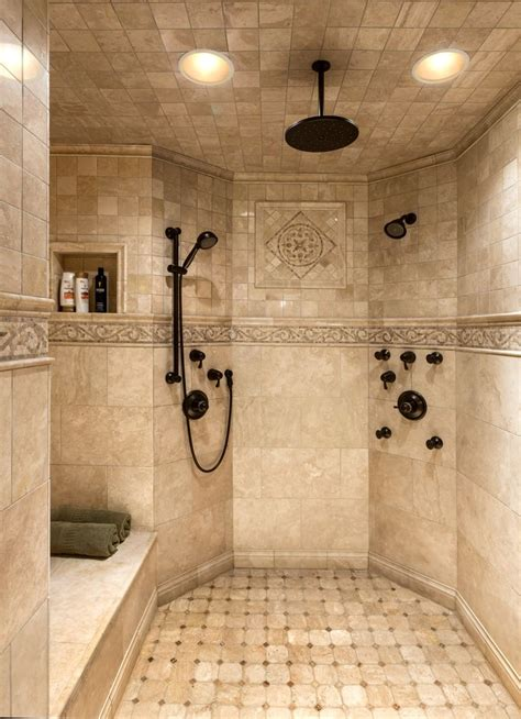 Custom Bathroom Showers Master Custom Tile Shower Houses